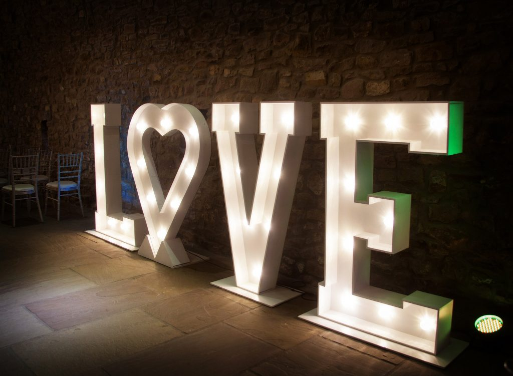 Love 5 ft LED Light Up Letters